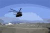Mh-53e Sea Dragon Makes Prepares To Land Aboard Ship. Clip Art