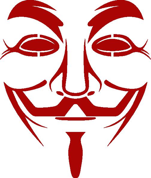 V Guy Fawkes Mask Line Art Clip Art At Clker Com Vector