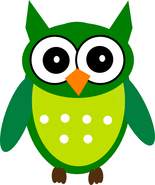 Green Owl Clip Art At Clker.com