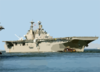 The Amphibious Assault Ship Uss Wasp (lhd 1) Departs Naval Station Norfolk To Avoid Hurricane Isabel. Clip Art
