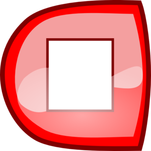 Red Stop Button Clip Art
