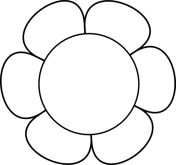 Clipart Flower 114 on Clipart Flower Six Petals Black Outline