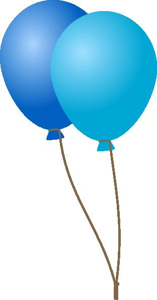 Emmas Blue Balloons Clip Art At Vector Clip