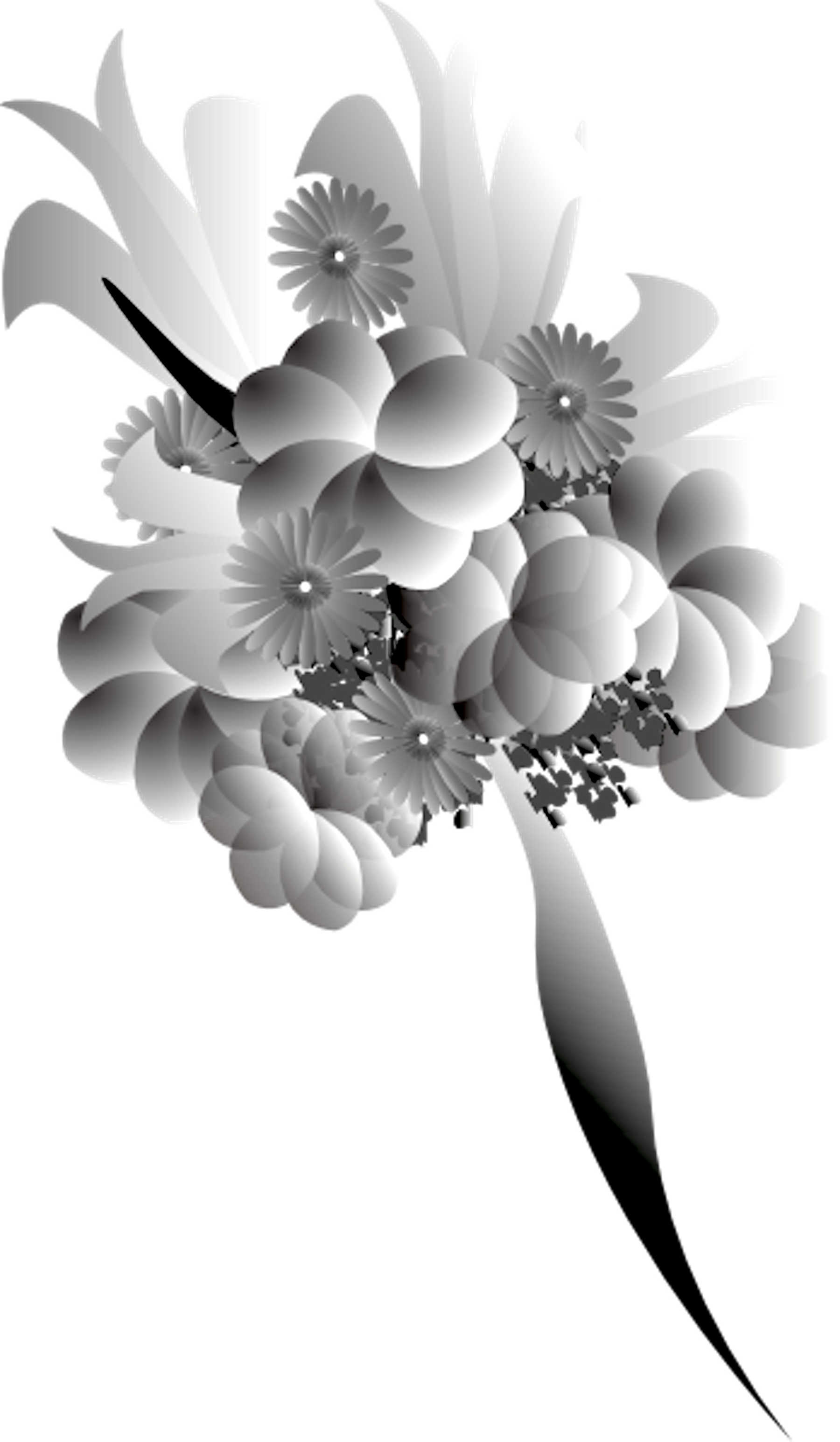 Bouquet Black White | Free Images at Clker.com - vector ...