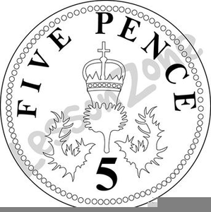P Coin Clipart Image