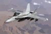 U.s. Navy F/a-18 Prepares For Aerial Refueling. Clip Art