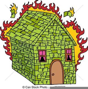 Burning Building Clipart Image