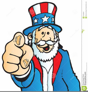 Uncle Sam Pointing Clipart Image
