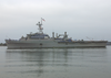 Uss Cleveland (lpd 7) Pulls Into San Diego Harbor Image