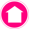Hot Pink Home Icon Clip Art