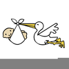 Free Animated Clipart Stork Image