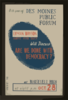 Lyman Bryson, Famous Forum Leader, Will Discuss  Are We Done With Democracy?  At Roosevelt High 8th Year Of Des Moines Public Forum / Designed And Produced By Iowa Art Program Wpa. Clip Art