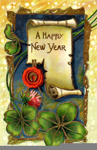 Christian New Year Clipart Image