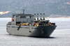 Large, Medium-speed Roll-on/roll-off Ship Usns Benavidez (t-akr 306) Heads Out Of Souda Harbor Following A Brief Port Image