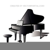 Free Vector Piano Clipart Image