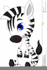 Cute Baby Zebra Clipart Image