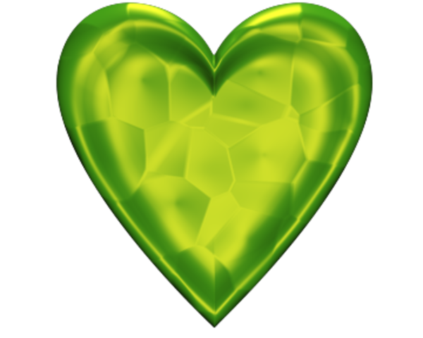 Heart D Jeweled Lime Green Free Images At Clker Com