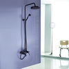 Oil Rubbed Bronze Wall Mount Waterfall Rain Handheld Shower Faucet Image