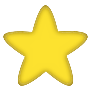Five-pointed Yellow Star Clip Art
