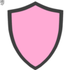 Pink And Grey Shield Clip Art