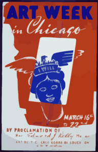 Art Week In Chicago By Proclamation Of ... Hon. Edward J. Kelly, Mayor : Art Dept. Chicago Board Of Education, E.w. Robertson. Clip Art