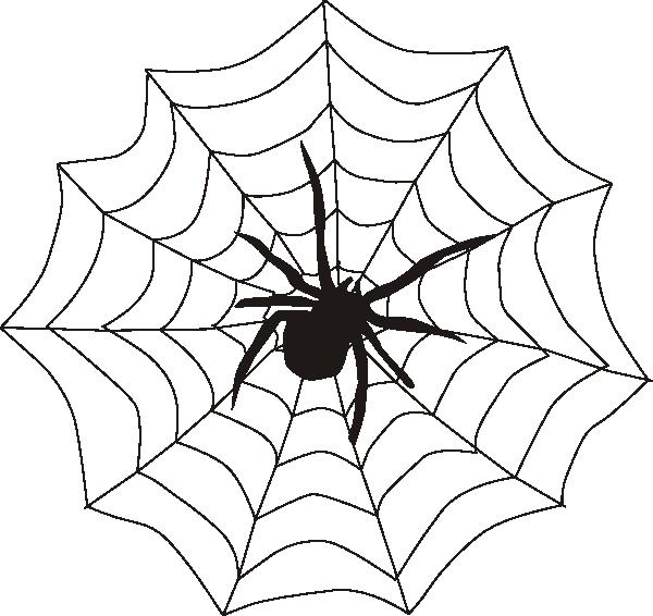 Spider And Web Clip Art at Clker.com - vector clip art ...