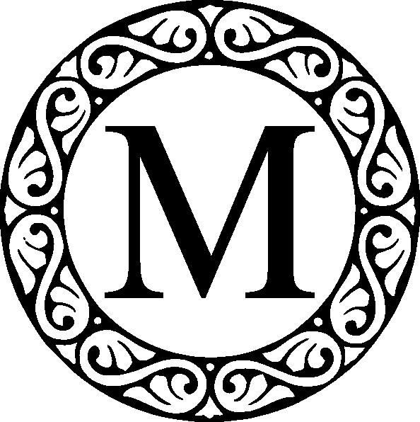 m circle monogram clip art at clker com