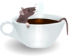 Rat In Coffee Clip Art