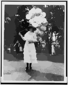 Mrs. Orme Thornberry, Balloon Girl At The Near East Relief Benefit Garden Fete] Clip Art