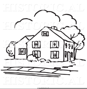 Historical Homes Clipart Image