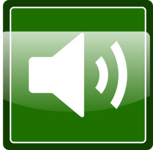 Green Audio Icon Clip Art