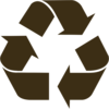 Black Recycle Symbol Clip Art