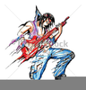 Animated Rock Star Clipart Image