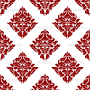 Depositphotos Floral Seamless Pattern With Dark Red Flowers On White Image