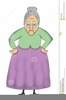 Animated Granny Clipart Image
