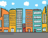 Urban Neighborhood Clipart Image