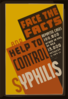 Face The Facts And Help To Control Syphilis Reported Cases 100,000 Under 19 Yrs. Of Age ... 13,000 Between 11 And 15. Clip Art