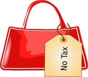 Bag With Tag Clip Art