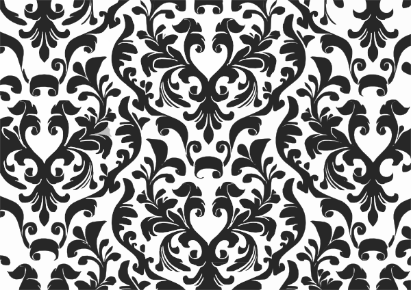 Damask Black And White Wallpaper Clip Art At Clker