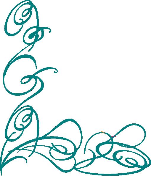 Blue Decorative Swirl Clip Art at Clker.com - vector clip