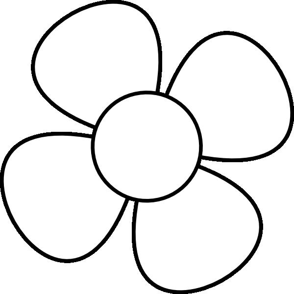 Black Flower 3 Clip Art At Clker Com: Flower Black&white Clip Art At Clker.com