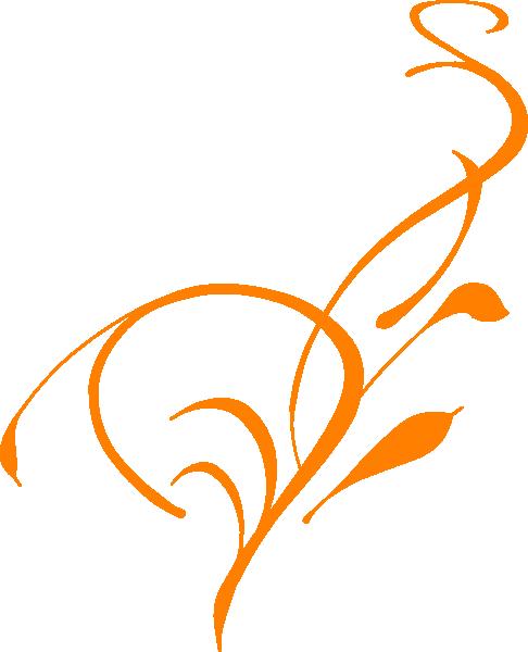 Floral Border Orange Clip Art At Clker Com Vector Clip