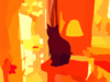 Black Cat On Tower In Living Room Vector Clip Art