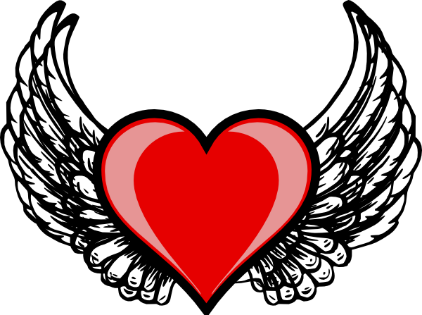 heart wing logo clip art at clker com vector clip art angel wings clip art for memorial angel wing clip art images