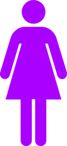 280 Purple Female Clip Art