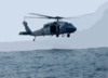 Search And Rescue Swimmers Assigned To The Chargers Of Helicopter Combat Support Squadron Six (hc-6) Stand Ready Aboard An Mh-60s Knighthawk Clip Art