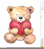 Valentines Day Bear Clipart Image