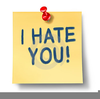 Love Hate Clipart Image