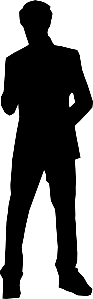 Silhouette Business Man Clip Art at Clker.com - vector ...