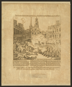The Bloody Massacre Perpetrated In King Street Boston On March 5th 1770 By A Party Of The 29th Regt.  / Engrav D, Printed & Sold By Paul Revere, Boston. Image